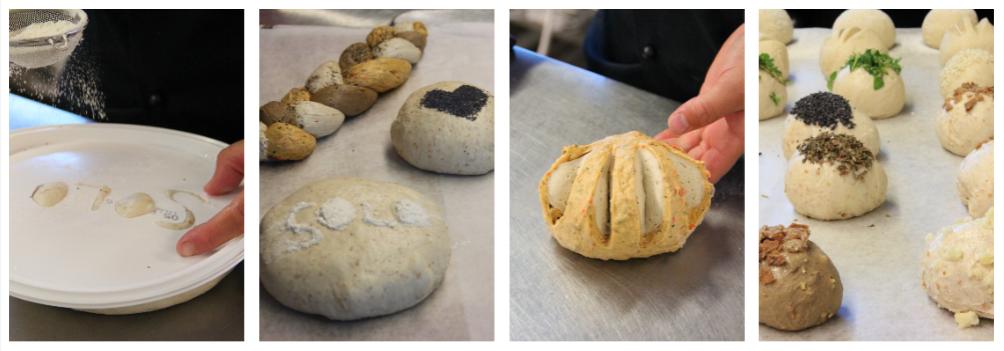 Erilaisia leipiä leipätaikinasta
