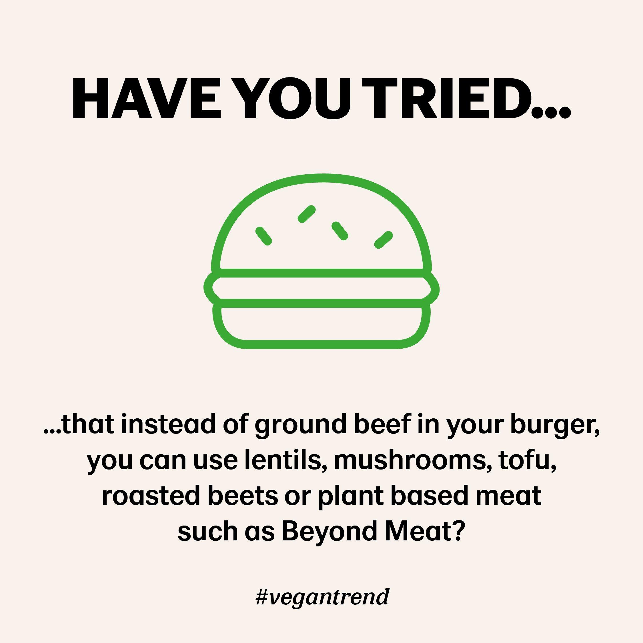Meat free vegan burger