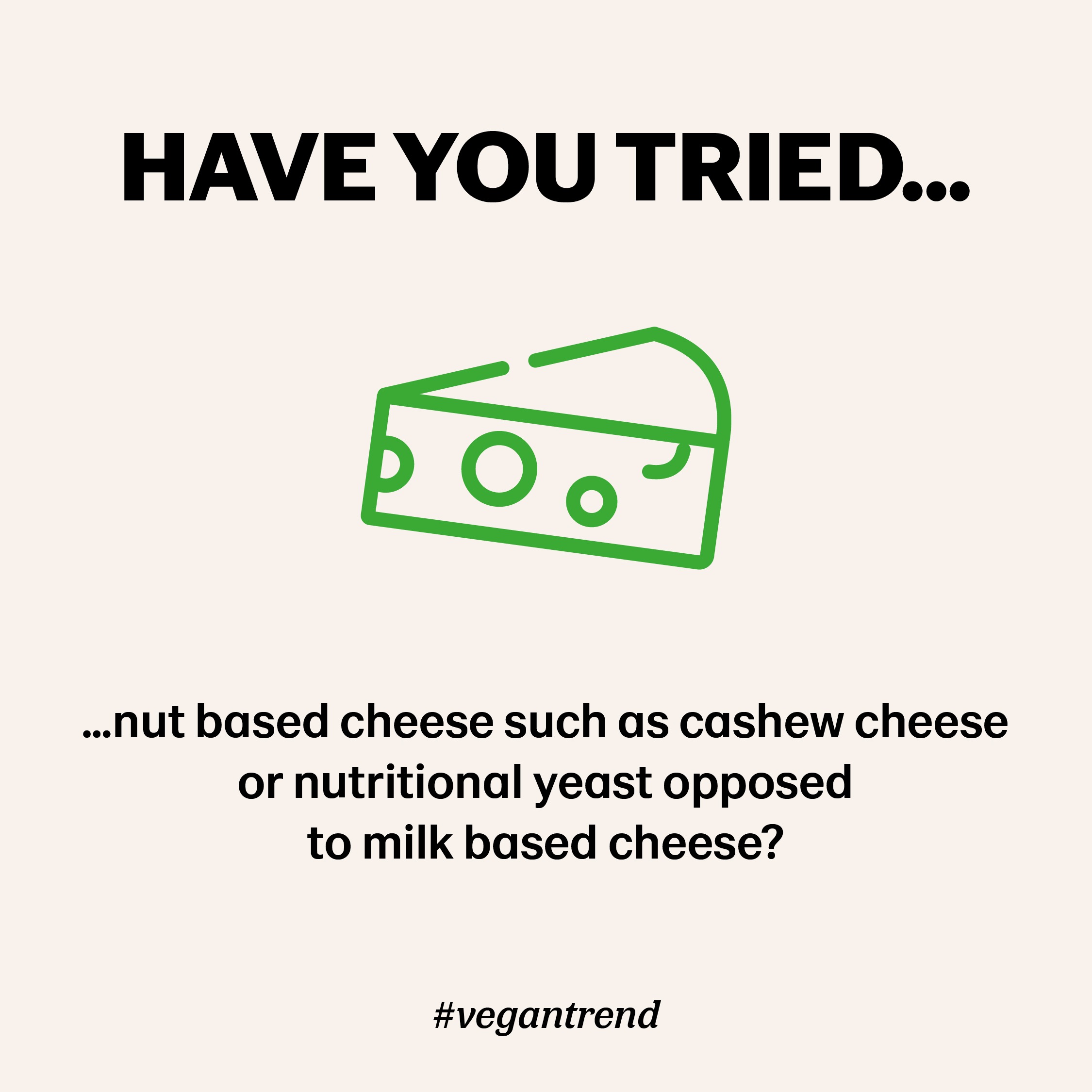 Nut based cheese insteaed of milk based cheese