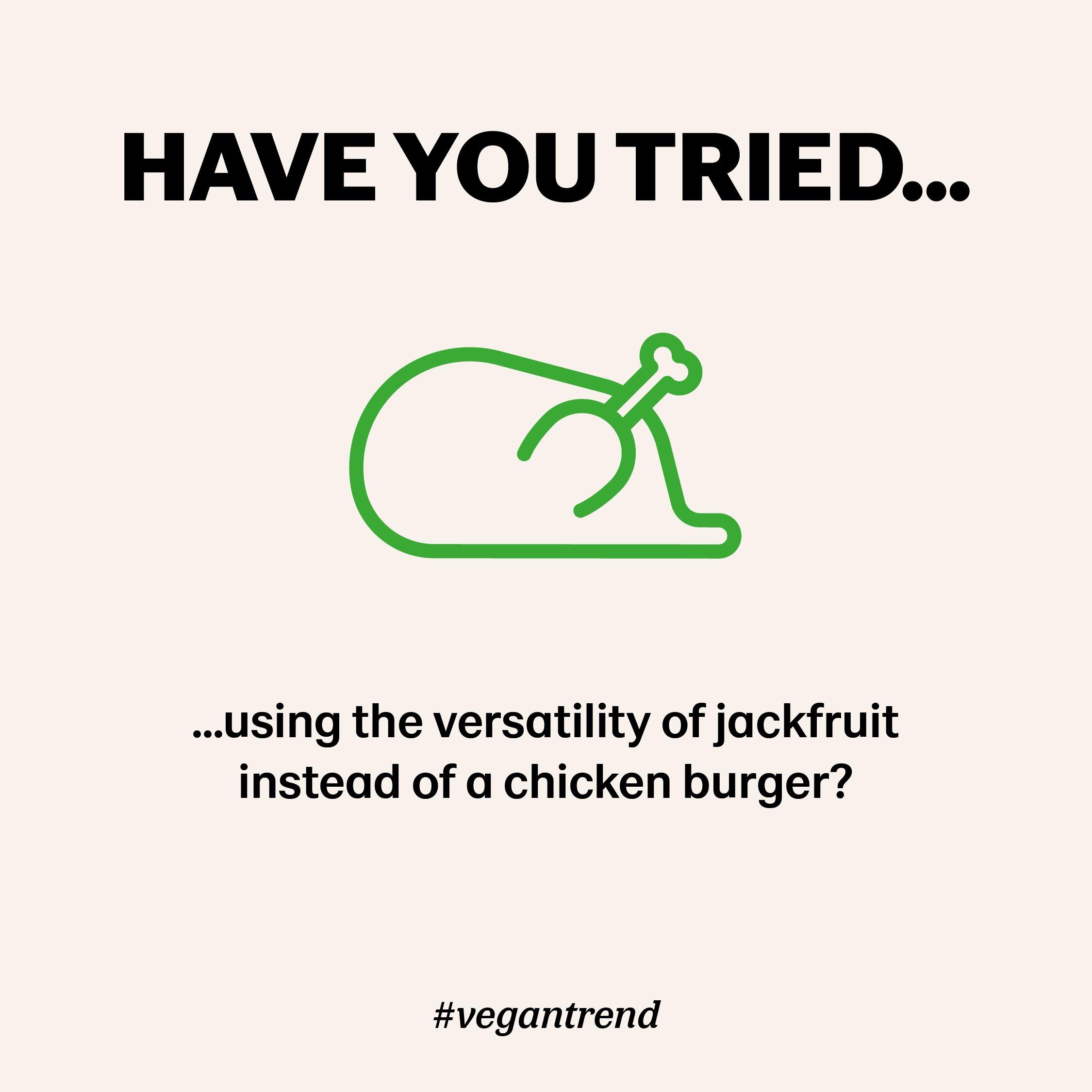 Meat free jackfruit instead of chicken